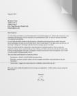 pressure seal letter