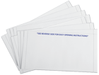 Z-fold pressure seal mailers